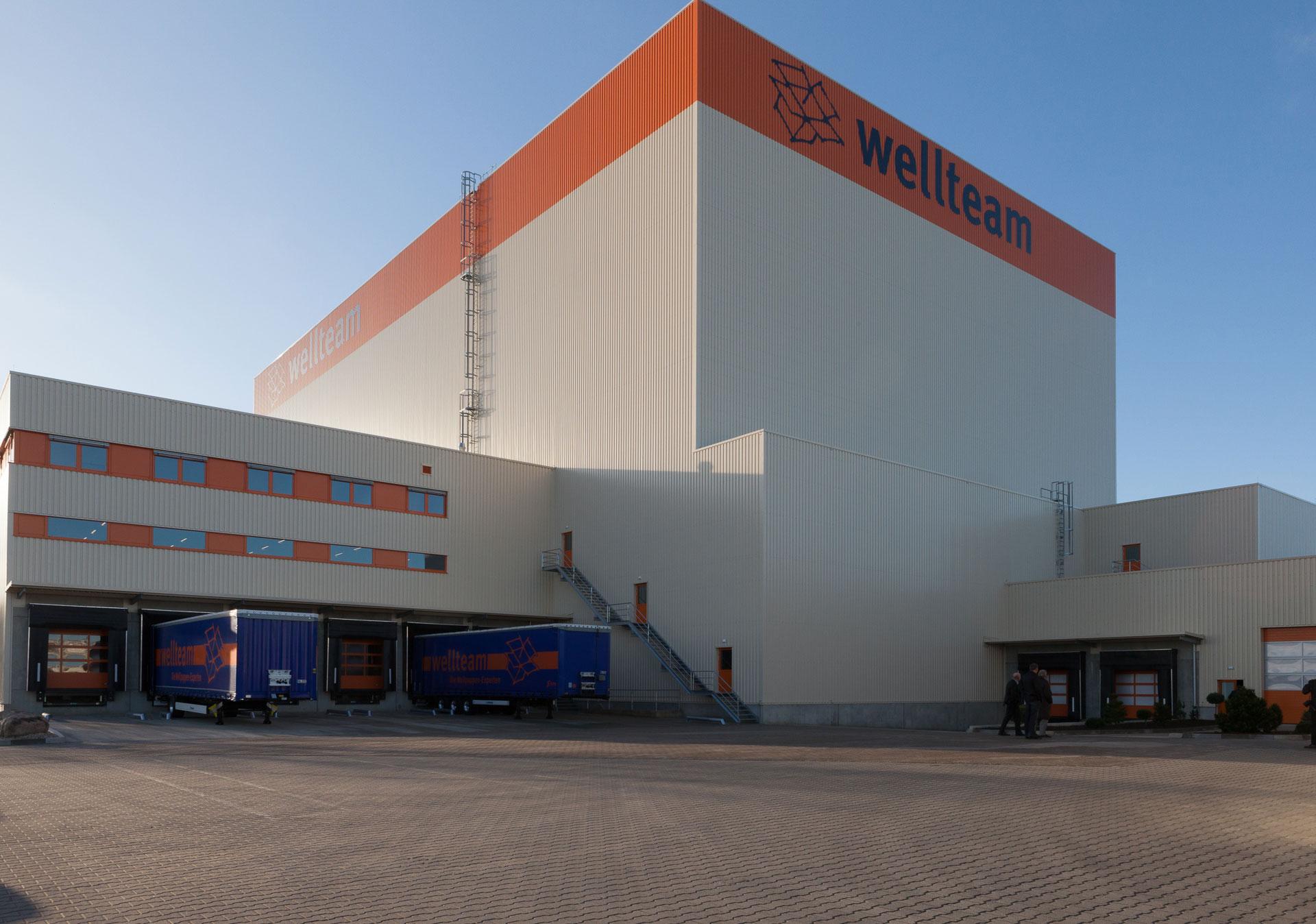 Architekt und Generalplanung PODUFAL-WIEHOFSKY , Hochregallager Firma Wellteam in Herford